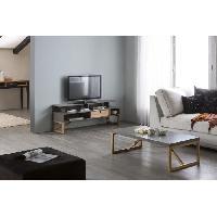 Meuble De Sejour - Entree ALIA Table basse - Décor gris ciré - L 110 x P 60 x H 35 cm Aucune