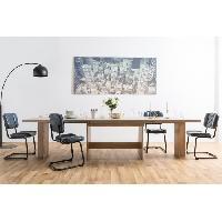 Meuble De Sejour - Entree ANCONA Table a manger XXL extensible de 8 a 12 personnes classique décor chene sonoma - L 160 / 310 x l 90 cm Aucune