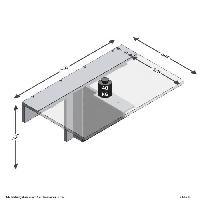 Meuble De Sejour - Entree ARTA Table a manger pliante 1 personne classique décor béton gris - L 80 x l 51 cm Aucune