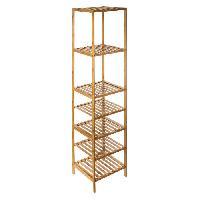Meuble De Sejour - Entree Etagere bambou - 6 étageres - L 35 cm Aucune