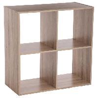 Meuble De Sejour - Entree Etagere en bois Mix - 4 cases - Naturel Aucune