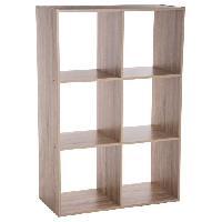 Meuble De Sejour - Entree Etagere en bois Mix - 6 cases - Gris Aucune
