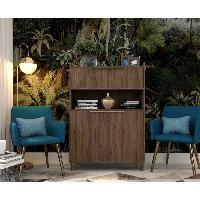 Meuble De Sejour - Entree GABY Buffet Haut décor bois - 2 Portes - L 90 cm - Aucune