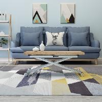 Meuble De Sejour - Entree Table Basse Extensible - Chene - Relevable - 100 x 57-114 x 40-75 cm - DANNY