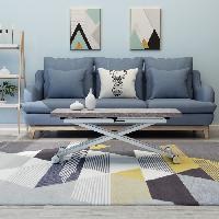 Meuble De Sejour - Entree Table Basse Relevable Extensible - Gris Beton - 100 x 57-114 x 40-75 cm - DANNY