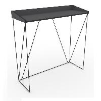 Meuble De Sejour - Entree WALTER Console - Contemporain - Métal - Laqué gris et noir - L 100 cm