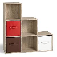 Meuble Etagere COMPO Cube escalier 6 cases coloris chene