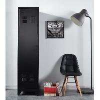 Meuble Etagere LIVERPOOL Meuble étagere métal noir - L  50 x P 43 x H 180 cm Aucune
