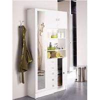 Meuble Haut - Element Mural - Armoire De Toilette Armoire GALET salle de bain 4 portes 5 tiroirs