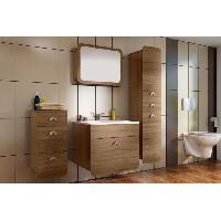 Meuble Sous Vasque - Meuble Vasque Integree - Plan De Toilette FOREST Salle de bain complete chene sonoma