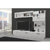 Meuble Tv - Hi-fi AXEL Meuble TV contemporain melamine blanc - L 225 cm