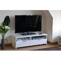 Meuble Tv - Hi-fi BANCO Banc TV 110 cm blanc haute brillance