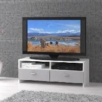 Meuble Tv - Hi-fi Meuble TV HELPPO 95cm blanc et gris