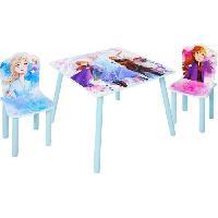 Meubles Bebe Disney La Reine des Neiges 2 - Ensemble d'une table et 2 chaises pour enfants
