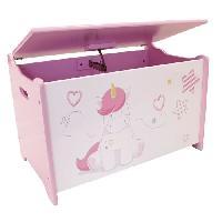 Meubles Bebe Fun House Licorne coffre a jouets en bois pour enfant