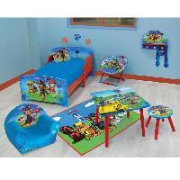 Meubles Bebe Fun House Pat Patrouille table carree + tabouret pour enfant