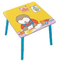 Meubles Bebe Fun House T'choupi table carree pour enfant