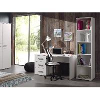 Meubles Bebe SOFIE Ensemble meubles de bureau enfant 2 elements blanc - Contemporain