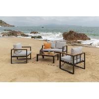 Meubles D'exterieur - De Jardin ALAO Salon de jardin 4 places -un canape et deux fauteuils avec une table basse