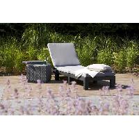 Meubles D'exterieur - De Jardin ALLIBERT Bain de soleil DAYTONA imitation resine tressee - Gris