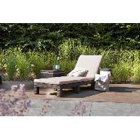 Meubles D'exterieur - De Jardin ALLIBERT Bain de soleil DAYTONA imitation resine tressee - Marron