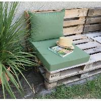 Meubles D'exterieur - De Jardin JARDIN PRIVE Kit Coussin de palette assise 80x60 cm + Dossier 60x50 cm - Lichen