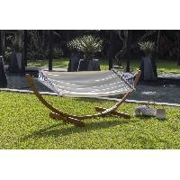 Meubles D'exterieur - De Jardin RIO Hamac extérieur avec support en bois - Tissu en coton - Aucune
