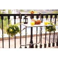 Meubles D'exterieur - De Jardin Table de balcon en Acier - Rabattable & Hauteur ajustable - 60 x 78 x 86-101 cm - Gris
