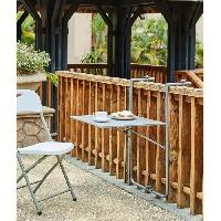 Meubles D'exterieur - De Jardin Table de balcon rabattable en Acier - 60 x 78 x 86-101 cm - Bleu