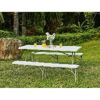 Meubles D'exterieur - De Jardin Table pliante - 150 cm - 6 personnes - Revetement en poudre en tubes d'acier