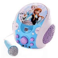 Micro - Karaoke LA REINE DES NEIGES Karaoke Portable - Lecteur CD + Micro