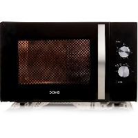 Micro-ondes DOMO DO2431-Micro-ondes monofonction noir-30 L-900 W-Pose libre