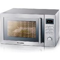 Micro-ondes MW 7868 micro-ondes combine inox brosse - 25 L - 900 W - Grill 1400 W - Four chaleur tournante 2400 W - Pose libre