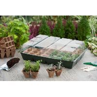 Mini-serre - Pack Germination - Pack Bouturage Mini-serre de culture avec plateaux de tourbe Nature