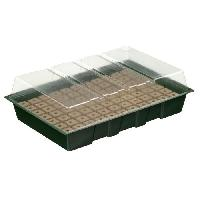 Mini-serre - Pack Germination - Pack Bouturage NATURE Mini-serre de culture hydroponique 7 X 11 alvéoles