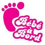 Mini sticker Bebe a bord 125x95mm - fille Generique