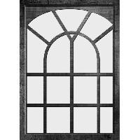 Miroir EDOUARD Miroir fenetre - 50x70 cm - Noir - Generique