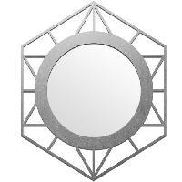 Miroir Miroir Cooper Ls - 40 x 50 cm - Gris argente