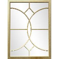 Miroir Miroir contemporaine Ls - 50 x 70 cm - Jaune dore