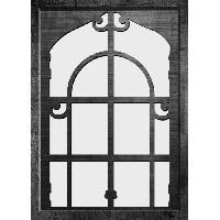Miroir Miroir deco d'interieur - 50x70 cm - Moulure 30 mm - Noir - Forme vintage