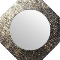 Miroir Miroir d'interieur ortogonal - Mdf - O40 cm - Or metalise - Generique