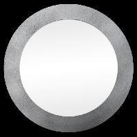 Miroir Miroir d'intérieur rond - Mdf - Ø35 cm - Argent métalisé - Generique
