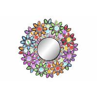 Miroir Miroir en metal et acrylique - 38 x 3 x 38 cm - Multicolore - Generique