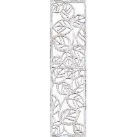 Miroir Miroir mural Feuilles - 30x120 cm - Moulure 30 mm - Blanc vieilli