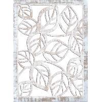 Miroir Miroir mural Feuilles - 50x70 cm - Moulure 30 mm - Blanc vieilli