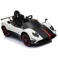 Modelage - Sculpture E-ROAD Pagani ZONDA Voiture électrique enfant - 12V - Blanc - Roues gomme - MP3 - Siege en cuir