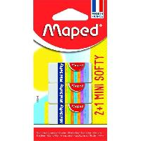 Modelage - Sculpture MAPED - 3 Gommes Mini Softy Aucune