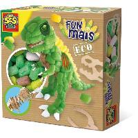 Modelage - Sculpture SES CREATIVE Dinosaure en funmais avec squelette en bois - 400 pieces