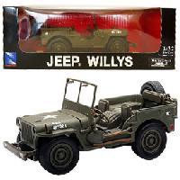 Monde Miniature 12x Voiture Jeep Willys metal 132 -assortiment - Generique