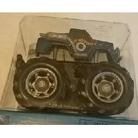 Monde Miniature 1 Mini Big Wheels Monster Truck - Mouvement par friction - Bleu - MID